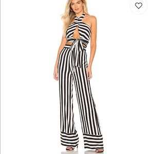 Lovers + Friends Tops - Lovers friends striped lux crop halter top pants